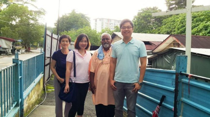 From left: Ms. Chee, Ms. Rachel, Pastor Johnson and Mr. Cheong