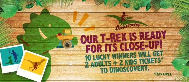 Hurry! Win 2 adults + 2 kids tickets to Dinoscovery