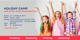 March Holiday Camp 2017 - Join us for some Chocolate Fun!