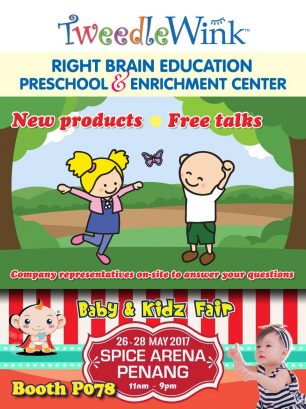 TweedleWink Right Brain Kids at 2017 Baby and Kidz Fair in Penang, Malaysia