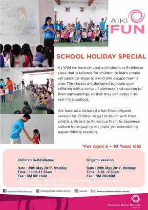 Yoshinkan Aikido Malaysia School Holiday Self Defense & Origami Session