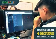Kidocode : Free Trial Class in MIT and Google Programming for Kids & Teens