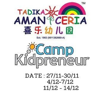 Tadika Aman Ceria Kidpreneur Fun Camp