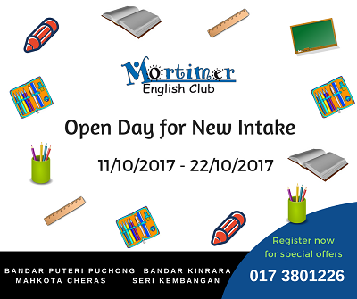 Mortimer English Club Open Day