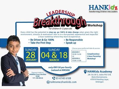 HANKidz Leadership Breakthrough Workshop, Kota Damansara