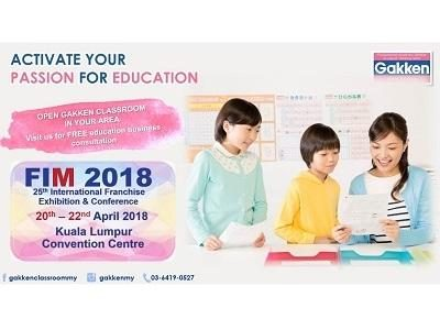 Gakken Classroom Licensee Recruitment (Booth No. B36) @ Franchise International Malaysia 2018