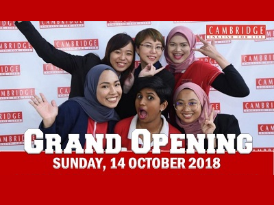 Grand Opening Cambridge English For Life Anggun City Rawang