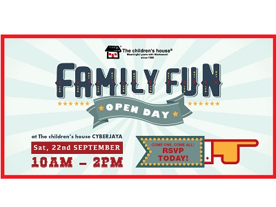 Family Fun Open Day at The children's house Cyberjaya