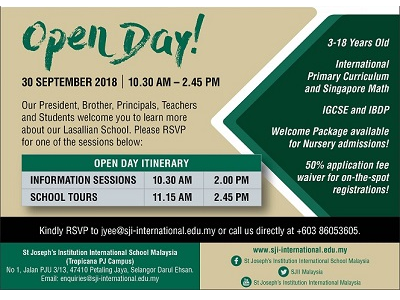 St. Joseph's Institution International School Malaysia Open Day