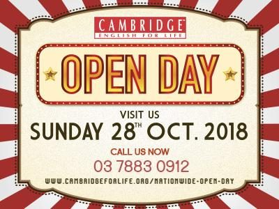 Cambridge English For Life Nationwide Open Day
