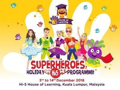 Hi-5 House of Learning – Superheroes Holiday Programme