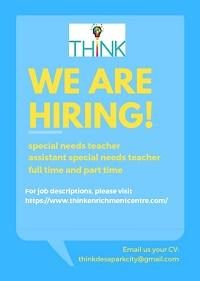 Special Needs Teacher @ THINK Enrichment Centre