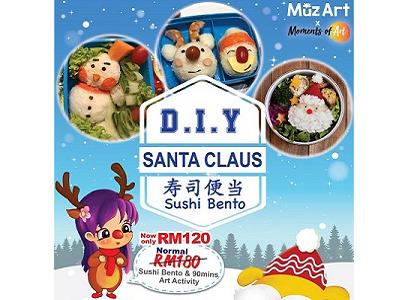 MuzArt Holiday Class - DIY Santa Claus Sushi Bento