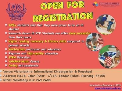 Victoriashire International Preschool - Open for Registration