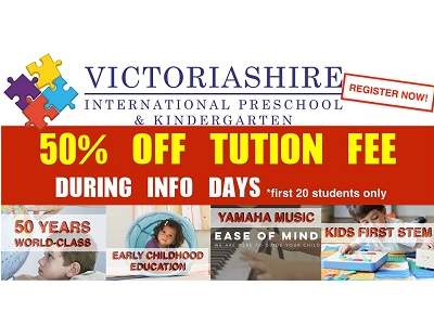 50% Off Tuition Fee during Victoriashire Info Days