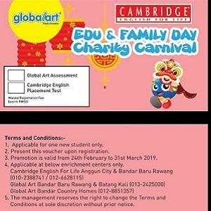 Edu & Family Day Charity Carnival by Cambridge English for Life and Global Art