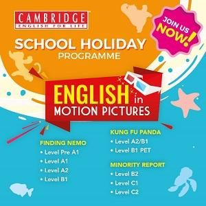 Cambridge English for Life School Holiday Programme: English in Motion Pictures