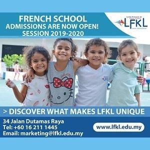 French School of Kuala Lumpur - Session 2019-2020 Admissions Are Now Open!