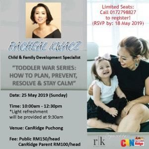 CanRidge Puchong - Toddler War Series: How To Plan, Prevent, Resolve and Stay Calm