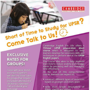 UPSR English Examination Preparation Workshop @ Cambridge English for Life