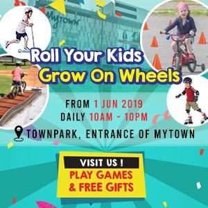 Roll your kids; Grow on wheels - Ecocana Sports @ MyTown Shopping Centre