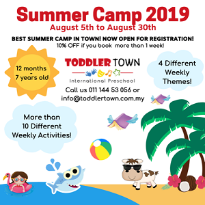 Summer Camp @ Toddler TOWN International Preschool, School