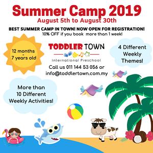 Summer Camp @ Toddler TOWN International Preschool