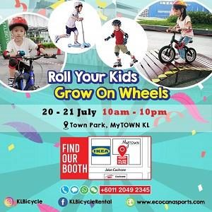 Roll Your Kids; Grow on Wheels @ Ecocana Sports, MyTown Shopping Centre