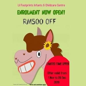 2020 Open Enrollment @ Lil Footprints Infant & Childcare Centre
