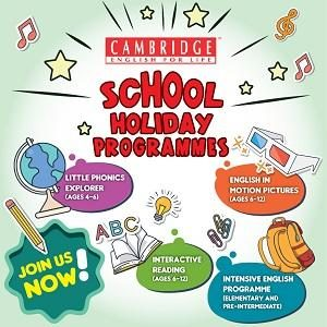 School Holiday Programmes @ Cambridge English For Life (CEFL)