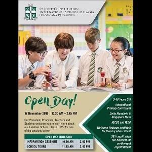 Open Day @ St Joseph's Institution International School, Tropicana PJ Campus