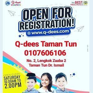 Open For Registration! @ Q-dees TTDI (Tadika Karya Minda)