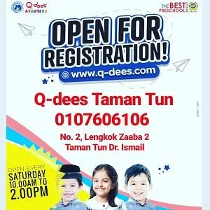 Open For Registration! @ Q-dees TTDI (Tadika Karya Minda)