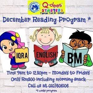 December Reading Program @ Q-dees TTDI (Tadika Karya Minda)