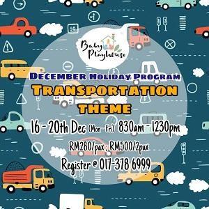 Transportation Holiday Program @ Baby Playhouse, Setia Alam