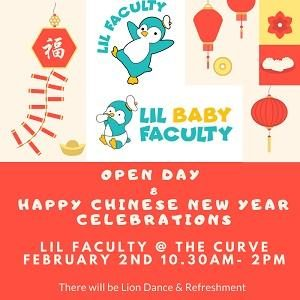 Open Day & Happy Chinese New Year Celebration @ Lil Faculty, The Curve