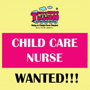 Child Care Staff Nurse @ Choo Choo Train Baby & Child Care Centre, Ara Damansara