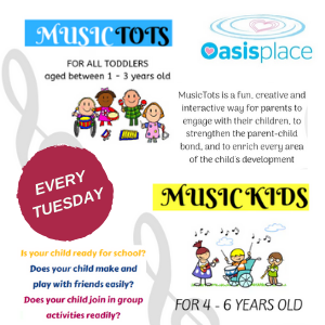 Music Programme @ Oasis Place, Every Tuesday