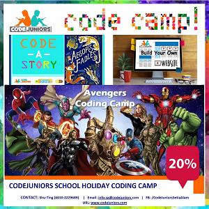 CodeJuniors' March / April 2020 School Holiday Coding Camp