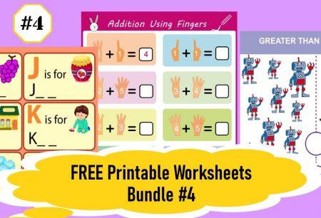 FREE Printable Worksheets for Kids | Bundle #4