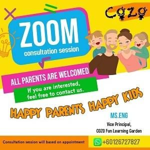 1-1 Online Consultation Session with Parents @ COZO Fun Learning Garden, Kampung Baru Batu 9