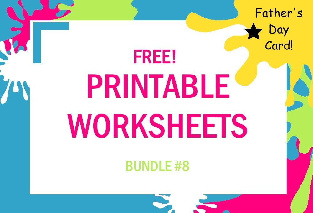 FREE Printable Worksheets for Kids | Bundle #8