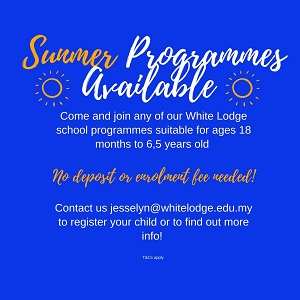Summer Programmes @ White Lodge International Preschool and Nursery