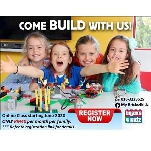 Online Bricks Class - Sept 2020 @ My Bricks4Kidz, Damansara Perdana (Petaling Jaya)