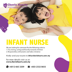 Infant Nurse @ Cherie Hearts International Preschool, Old Klang Road