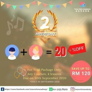 2nd Anniversary Trial Package @ Tone Color Academy, Seri Kembangan, Selangor