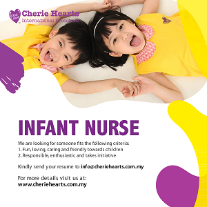 Infant Nurse @ Cherie Hearts International Preschool, Kota Kemuning, Shah Alam
