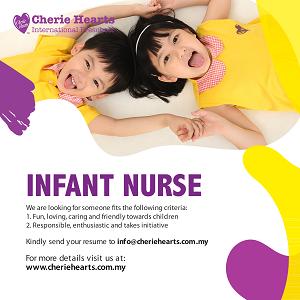 Infant Nurse @ Cherie Hearts International Preschool, Kota Kemuning, Shah Alam
