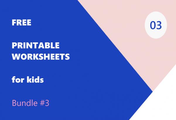 Printable Worksheets Bundle #3