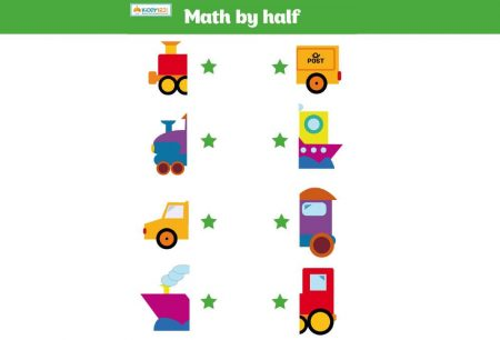 MATHS - Halves vehicles